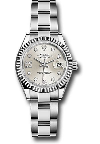 Rolex Watches - Datejust Lady 28 Stainless Steel - Fluted Bezel - Oyster - Style No: 279174 s9dix8do