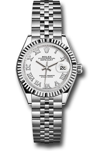 Rolex Watches - Datejust Lady 28 Stainless Steel - Fluted Bezel - Jubilee - Style No: 279174 wrj