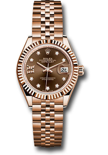 Rolex Watches - Datejust Lady 28 Everose Gold - Flluted Bezel - Jubilee Bracelet - Style No: 279175 cho9dix8dj