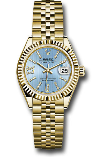 Rolex Watches - Datejust Lady 28 Yellow Gold - Fluted Bezel - Jubilee Bracelet - Style No: 279178 cbls36dix8dj