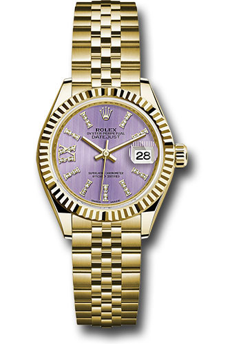 Rolex Watches - Datejust Lady 28 Yellow Gold - Fluted Bezel - Jubilee Bracelet - Style No: 279178 lils36dix8dj