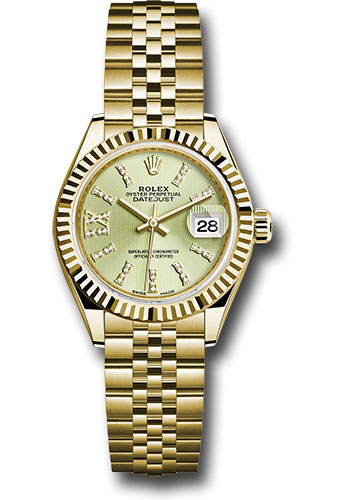 Rolex Watches - Datejust Lady 28 Yellow Gold - Fluted Bezel - Jubilee Bracelet - Style No: 279178 lings36dix8dj