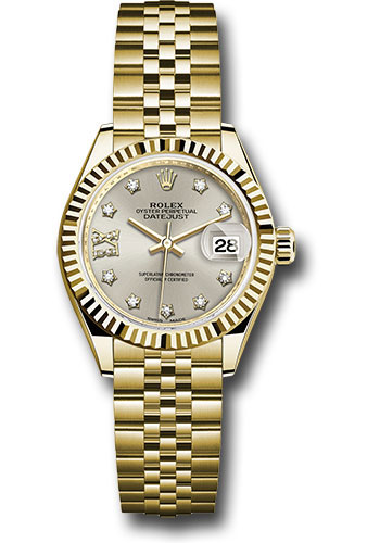 Rolex Watches - Datejust Lady 28 Yellow Gold - Fluted Bezel - Jubilee Bracelet - Style No: 279178 s9dix8dj