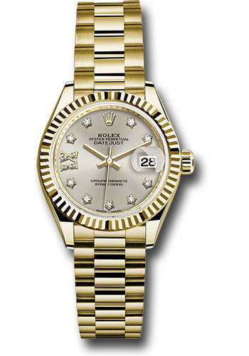 Rolex Watches - Datejust Lady 28 Yellow Gold - Fluted Bezel - President Bracelet - Style No: 279178 s9dix8dp