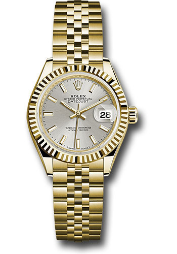 Rolex Watches - Datejust Lady 28 Yellow Gold - Fluted Bezel - Jubilee Bracelet - Style No: 279178 sij