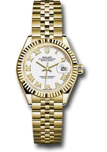 Rolex Watches - Datejust Lady 28 Yellow Gold - Fluted Bezel - Jubilee Bracelet - Style No: 279178 wrj