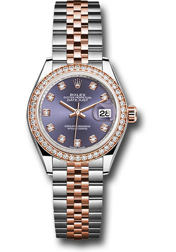 Rolex Watches - Datejust Lady 28 Steel and Everose Gold - Diamond Bezel - Jubilee - Style No: 279381RBR audj