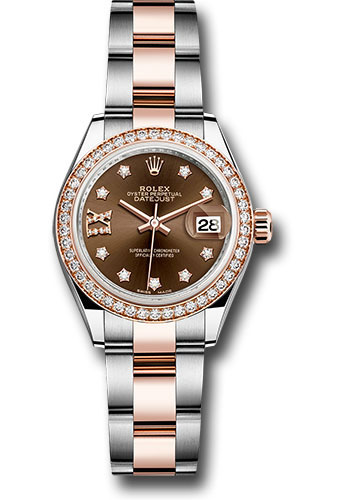 Rolex Watches - Datejust Lady 28 Steel and Everose Gold - Diamond Bezel - Oyster - Style No: 279381RBR cho9dix8do