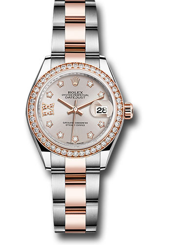 Rolex Watches - Datejust Lady 28 Steel and Everose Gold - Diamond Bezel - Oyster - Style No: 279381RBR su9dix8do