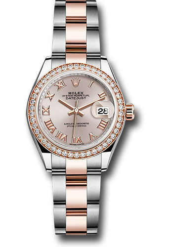 Rolex Watches - Datejust Lady 28 Steel and Everose Gold - Diamond Bezel - Oyster - Style No: 279381RBR suro