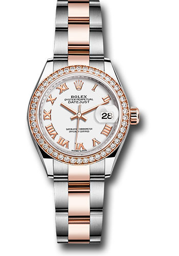 Rolex Watches - Datejust Lady 28 Steel and Everose Gold - Diamond Bezel - Oyster - Style No: 279381RBR wro