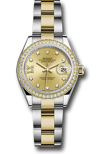 Rolex Watches - Datejust Lady 28 Steel and Yellow Gold - Diamond Bezel - Oyster - Style No: 279383RBR ch9dix8do