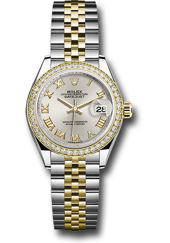 Rolex Watches - Datejust Lady 28 Steel and Yellow Gold - Diamond Bezel - Jubilee - Style No: 279383RBR srj