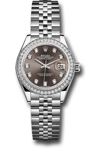 Rolex Watches - Datejust Lady 28 Stainless Steel - Diamond Bezel - Jubilee - Style No: 279384RBR dgdj