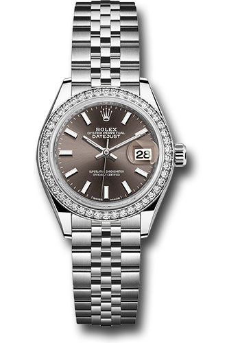 Rolex Watches - Datejust Lady 28 Stainless Steel - Diamond Bezel - Jubilee - Style No: 279384RBR dgij