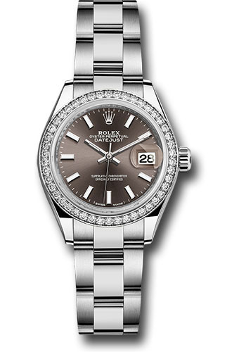 Rolex Watches - Datejust Lady 28 Stainless Steel - Diamond Bezel - Oyster - Style No: 279384RBR dgio