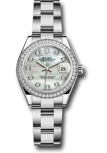 Rolex Watches - Datejust Lady 28 Stainless Steel - Diamond Bezel - Oyster - Style No: 279384RBR mdo