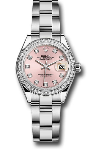 Rolex Watches - Datejust Lady 28 Stainless Steel - Diamond Bezel - Oyster - Style No: 279384RBR pdo