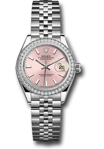 Rolex Watches - Datejust Lady 28 Stainless Steel - Diamond Bezel - Jubilee - Style No: 279384RBR pij