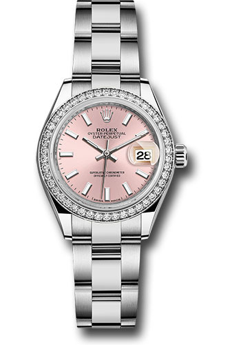 Rolex Watches - Datejust Lady 28 Stainless Steel - Diamond Bezel - Oyster - Style No: 279384RBR pio
