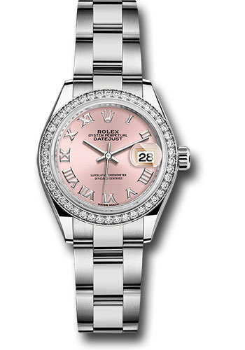 Rolex Watches - Datejust Lady 28 Stainless Steel - Diamond Bezel - Oyster - Style No: 279384RBR pro