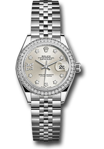 Rolex Watches - Datejust Lady 28 Stainless Steel - Diamond Bezel - Jubilee - Style No: 279384RBR s9dix8dj