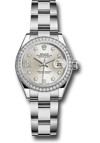 Rolex Watches - Datejust Lady 28 Stainless Steel - Diamond Bezel - Oyster - Style No: 279384RBR s9dix8do