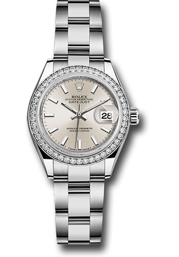 Rolex Watches - Datejust Lady 28 Stainless Steel - Diamond Bezel - Oyster - Style No: 279384RBR sio
