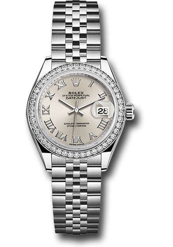 Rolex Watches - Datejust Lady 28 Stainless Steel - Diamond Bezel - Jubilee - Style No: 279384RBR srj