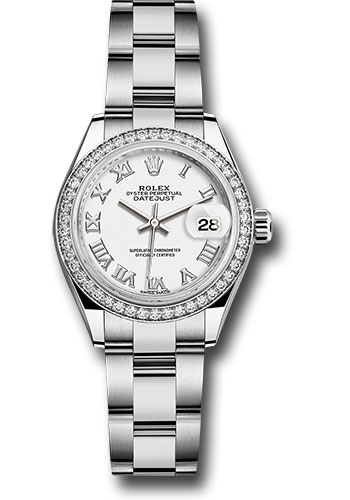 Rolex Watches - Datejust Lady 28 Stainless Steel - Diamond Bezel - Oyster - Style No: 279384RBR wro