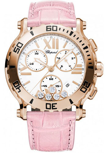 Chopard Watches - Happy Sport Chrono Rose Gold - Style No: 283581-5001