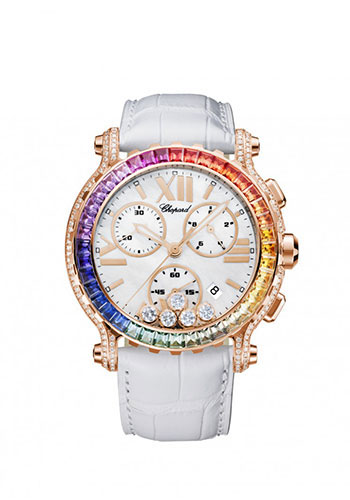 Chopard Watches - Happy Sport Chrono Rose Gold - Style No: 283582-5015