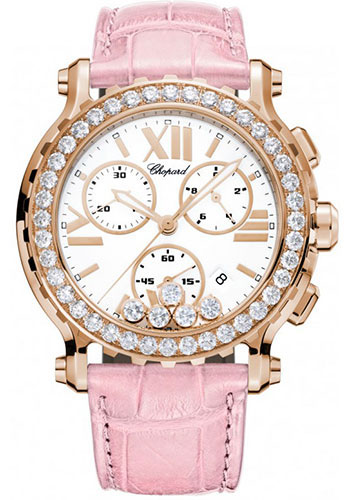 Chopard Watches - Happy Sport Chrono Rose Gold - Style No: 283583-5001