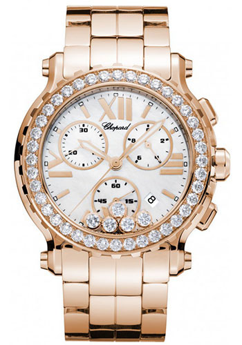 Chopard Watches - Happy Sport Chrono Rose Gold - Style No: 283583-5006