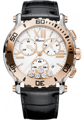 Chopard Watches - Happy Sport Chrono Steel and Gold - Style No: 288499-6001