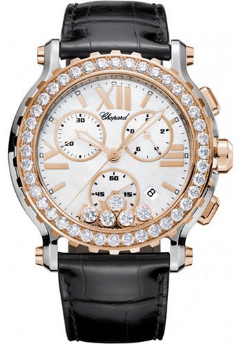 Chopard Watches - Happy Sport Chrono Steel and Gold - Style No: 288506-6001