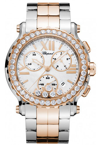 Chopard Watches - Happy Sport Chrono Steel and Gold - Style No: 288506-6002