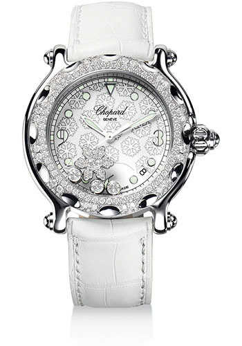 6e0ffa981a Chopard Happy Sport Happy Snowflake Watches From SwissLuxury
