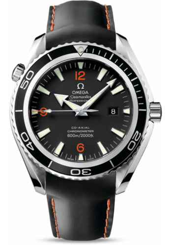 Omega Watches - Seamaster Planet Ocean 600 M Co-Axial 45.5 mm - Stainless Steel - Leather Strap - Style No: 2900.51.82