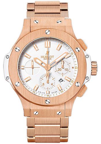 Hublot Watches - Big Bang 44mm Red Gold White - Style No: 301.PE.2180.PE