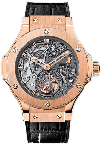 Hublot Watches - Bigger Bang Tourbillon 44mm Red Gold Minute Repeater - Style No: 304.PX.1180.LR