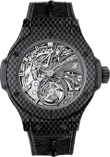Hublot Watches - Big Bang 44mm Tourbillon - Carbon Minute Repeater Tourbillon - Style No: 304.QX.1140.HR