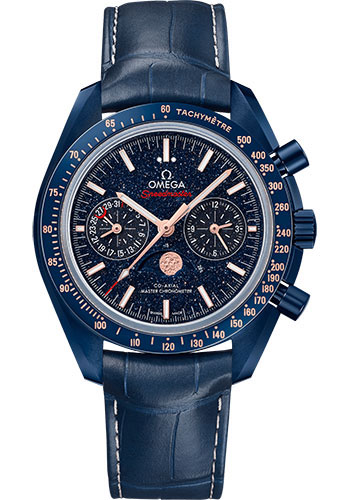 Omega Watches - Speedmaster Moonwatch Co-Axial Chronograph 44.25 mm - Blue Ceramic - Style No: 304.93.44.52.03.002