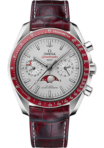 Omega Watches - Speedmaster Moonphase Chronograph 44.25 mm - Platinum - Style No: 304.93.44.52.99.001