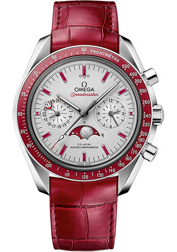Omega Watches - Speedmaster Moonphase Chronograph 44.25 - Platinum - Style No: 304.93.44.52.99.002