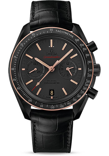 Omega Watches - Speedmaster Moonwatch Co-Axial Chronograph 44.25 mm - Black Ceramic - Style No: 311.63.44.51.06.001
