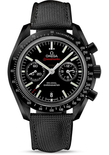 Omega Watches - Speedmaster Moonwatch Co-Axial Chronograph 44.25 mm - Black Ceramic - Style No: 311.92.44.51.01.003