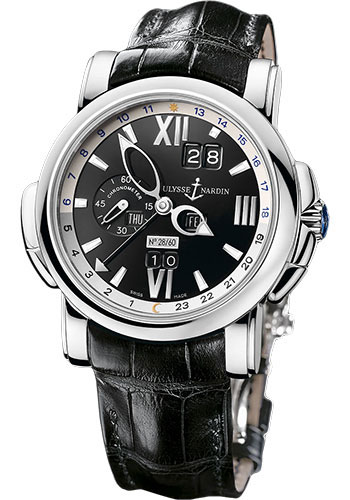 Ulysse Nardin Watches - GMT Perpetual 42 mm - White Gold - Leather Strap - Style No: 320-60/32