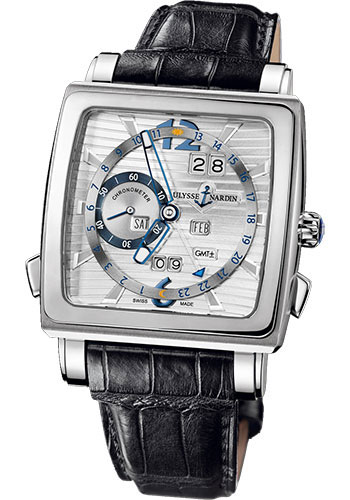 Ulysse Nardin Watches - Quadrato Dual Time Perpetual White Gold - Style No: 320-90/91