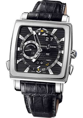 Ulysse Nardin Watches - Quadrato Dual Time Perpetual White Gold - Style No: 320-90/92